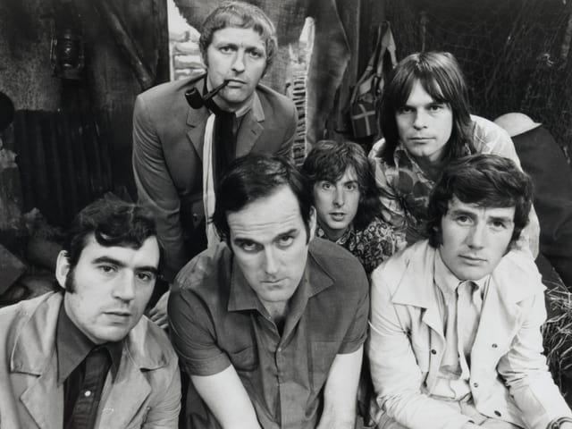 John Cleese mit der Komikertruppe «Monty Python»