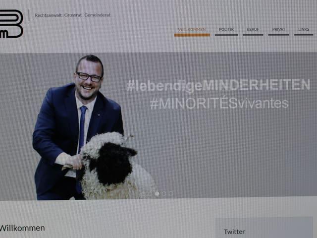 Startseite des CVP-Kandidaten Philipp Matthias Bregy.