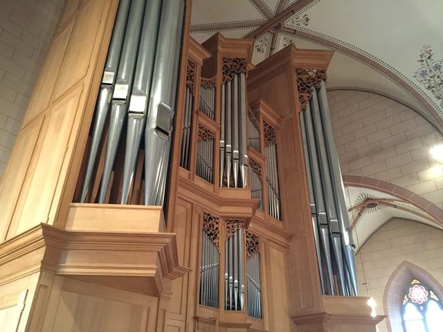 Orgel in der katholischen Kirche Leuggern.