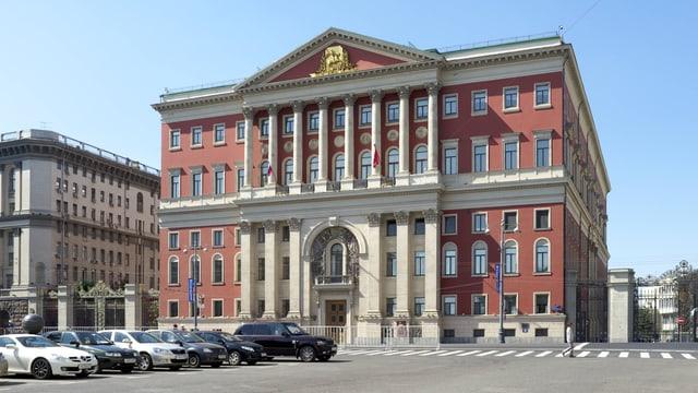 Das Moskauer Rathaus.