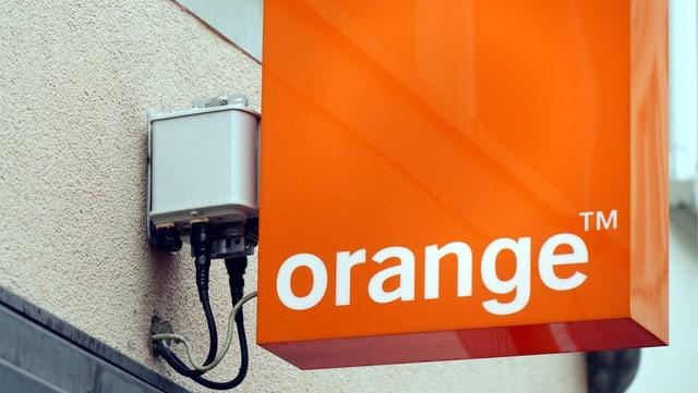 Anzeigetafel von Orange