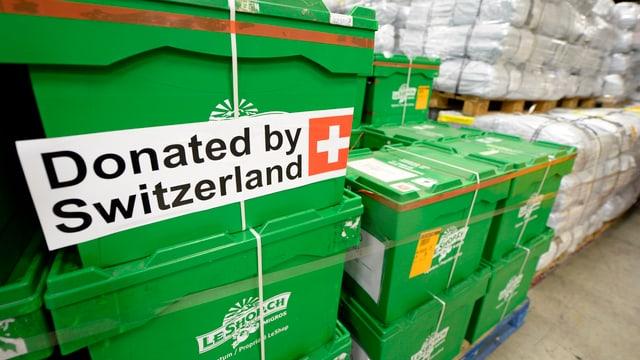Hilfsgüter aus der Schweiz
