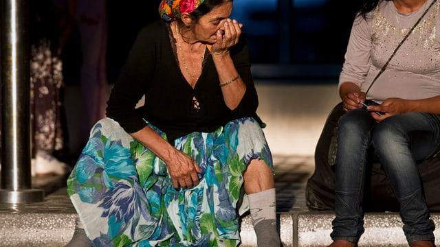 Eine Roma in Frankreich.