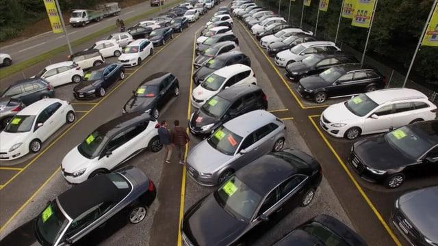 Video «Jaguar F-Pace, Occasionautos, Linksfahren auf der Autobahn» abspielen