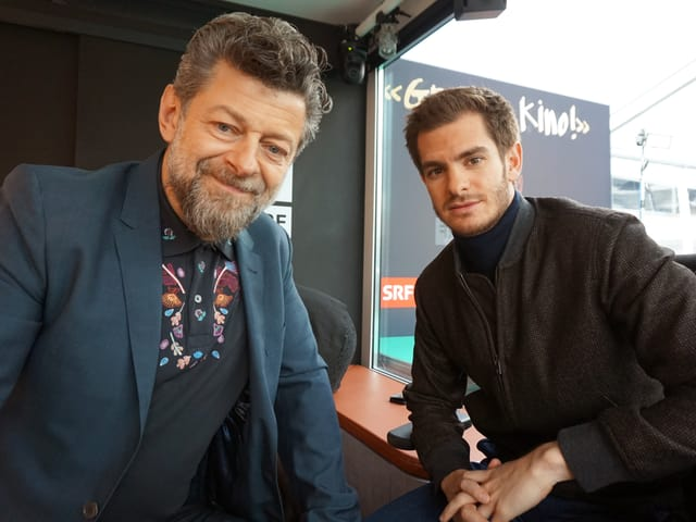 Sympathische Begegnung mit Regisseur Andy Serkis und Schauspieler Andrew Garfield.