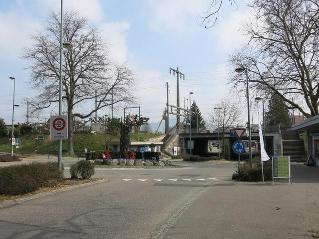 Das Bild zeigt die Unterführung des Bahnhofs in Ostermundigen.