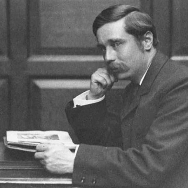 H.G. Wells im Porträt.