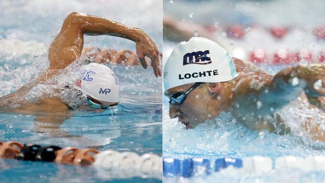 Michael Phelps und Ryan Lochte.