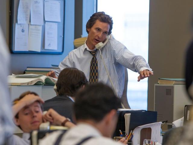In «The Wolf of Wall Street» spielte McConaughey eine Szene lang Leonardo DiCaprio an die Wand.