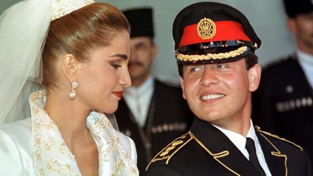 Königin Rania und König Abdullah von Jordanien.