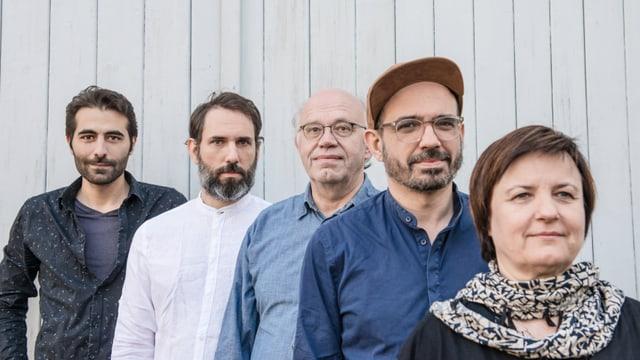 Bahur Ghazi, Dario Sisera, Christoph Baumann, Luca Sisera, Patricia Draeger.