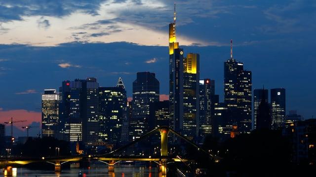 Die Skyline der Wirtschaftsmetropole Frankfurt, das so genannte «Mainhattan»