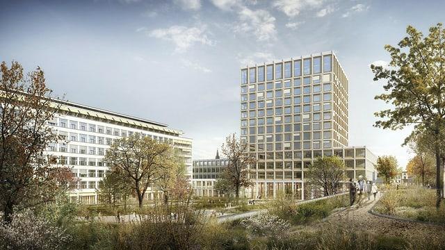 Hoher Turm hinter dem Spitalgarten