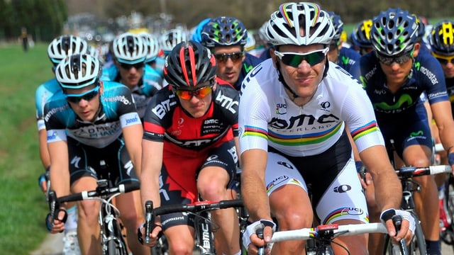 Philippe Gilbert an der Spitze. Auch am Sonntag im Ziel in Lüttich?