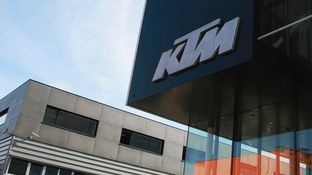 Das Logo von KTM.
