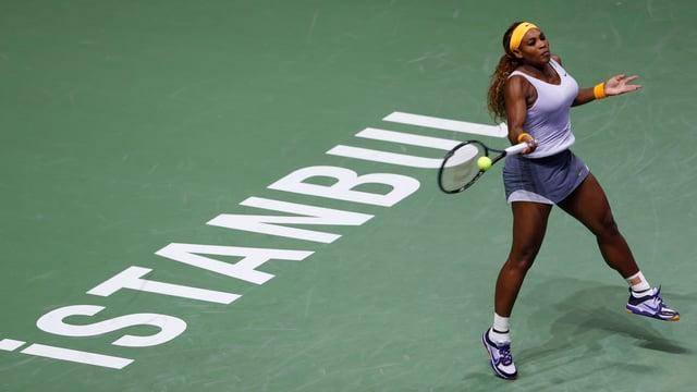 Serena Williams steht im Final von Istanbul.