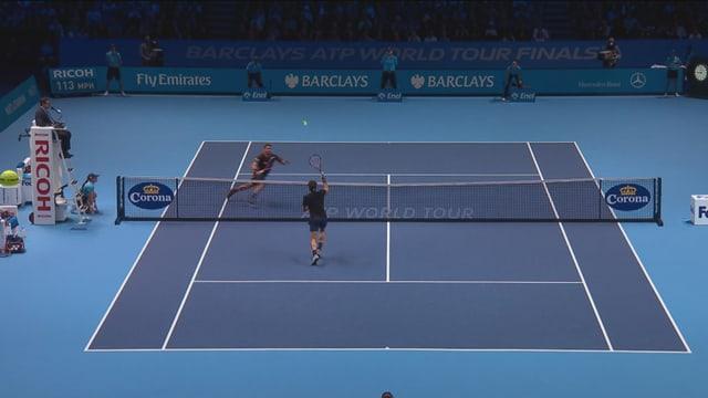 Federer am Netz