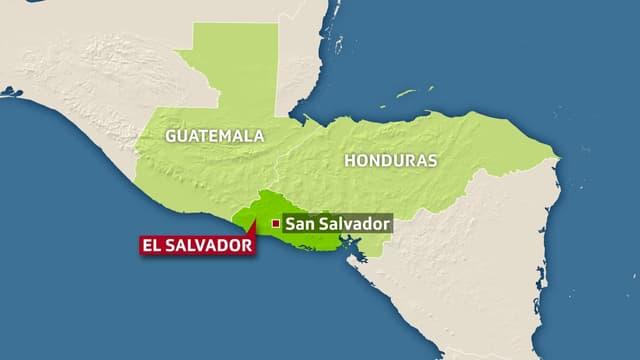 Karte mit El Salvador, Guatemala und Honduras