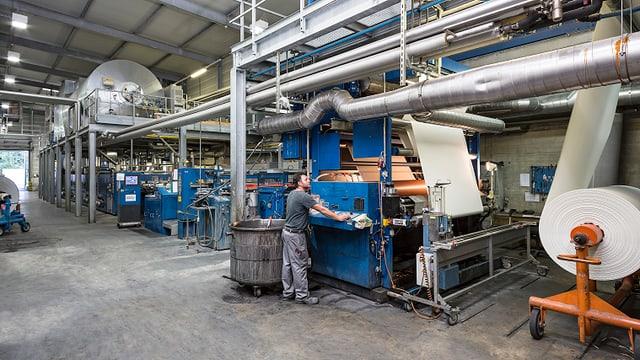 Eine Produktionshalle der Cilander.