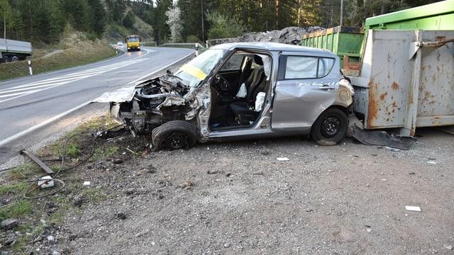 L'auto suenter l'accident.