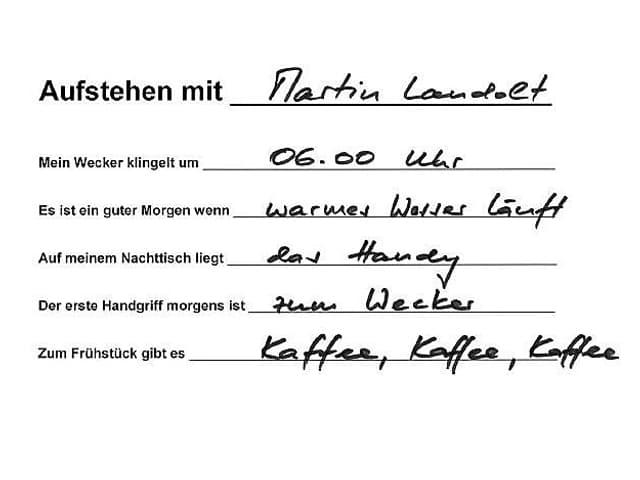 Handschrift von Martin Landolt.