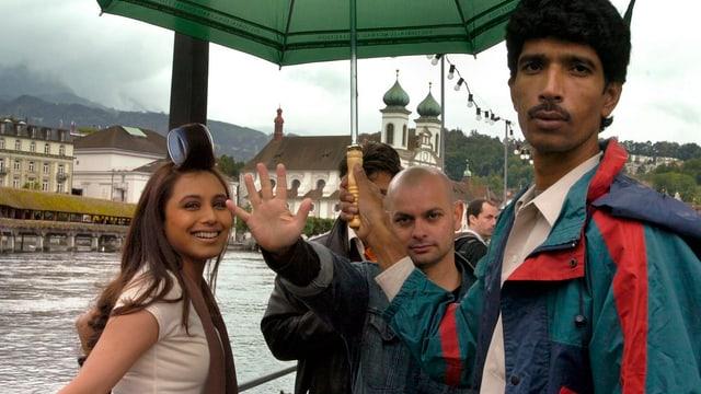Bollywood-Szene in Luzern im Jahr 2007