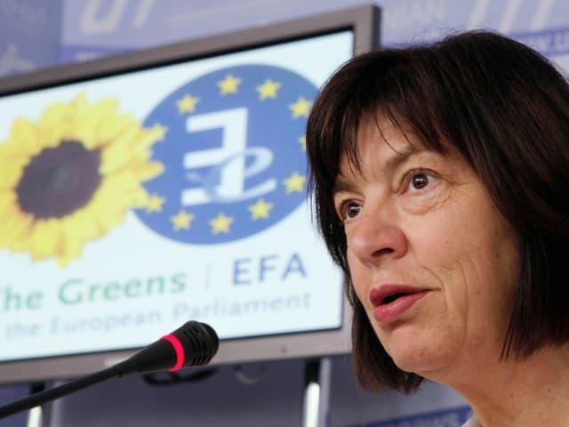 Rebecca Harms während einer Fragestunde im EU-Parlament
