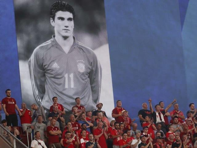 Jose Antonio Reyes auf einem Fanplakat