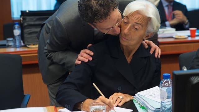 Jeroen Dijsselbloem und Christine Lagarde