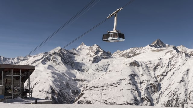 Pendiculara a Zermatt.