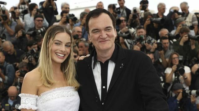 Margot Robbie und Regisseur Quentin Tarantino 2019 in Cannes, wo sie ihren Film «Once Upon a Time in Hollywood» präsentierten.