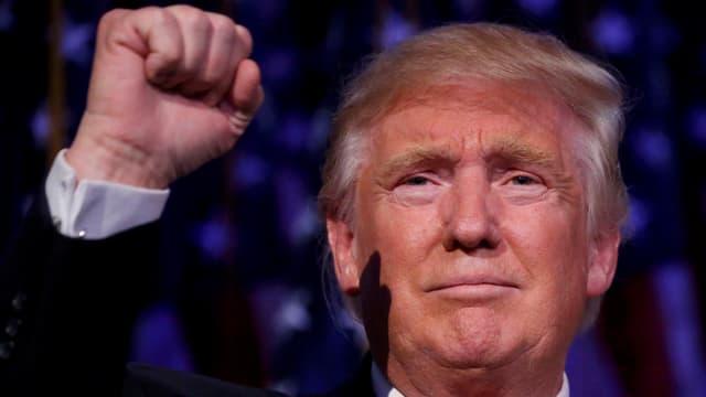 Donald Trump streckt seine geballte Faust in die Luft.