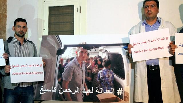 Syrische Freunde des Entführten fordern Anfang November seine Freilassung.
