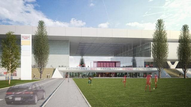 Visualisierung der Stades de Bienne im Weitwinkel.
