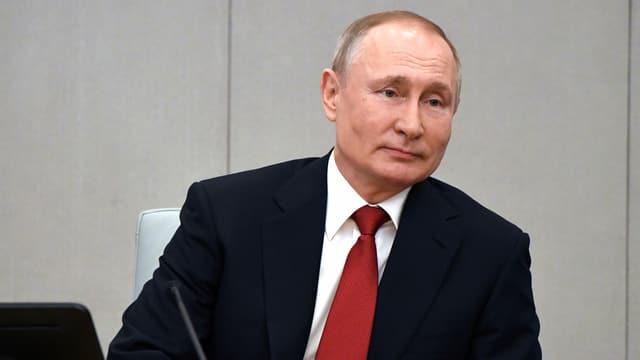 Portrait von Wladimir Putin.