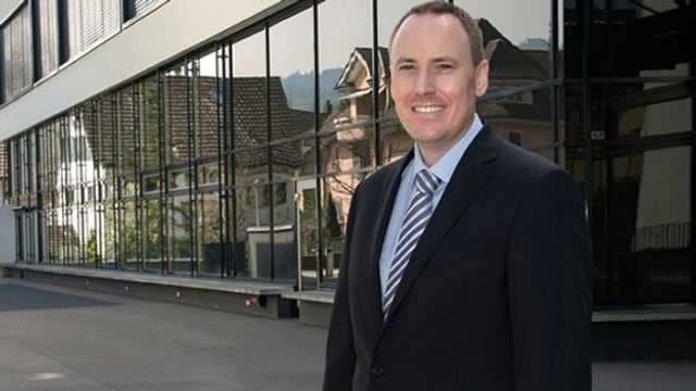 Porträtbild des abtretenden Parteipräsidenten der Zuger SVP, Markus Hürlimann