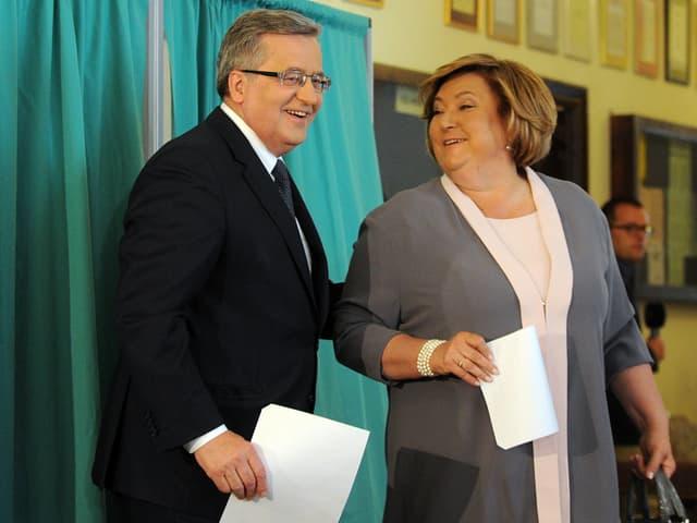 Bronislaw Komorowski mit Ehefrau