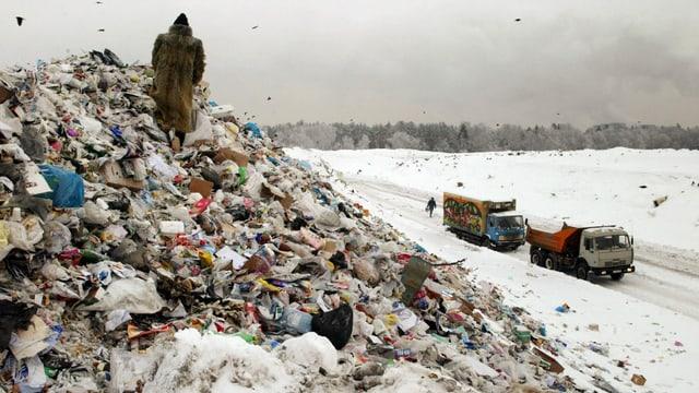 Mülldeponien ausserhalb der Hauptstadt Moskau