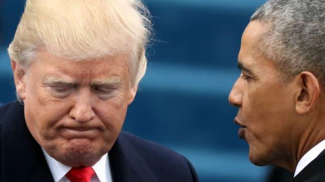 Trump und Obama 2017.