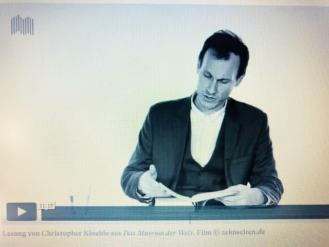 Christopher Kloebe liest aus seinem Roman «Das Museum der Welt»