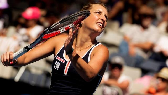 Timea Bacsinszky gewinnt ihr Auftaktspiel in Rom.