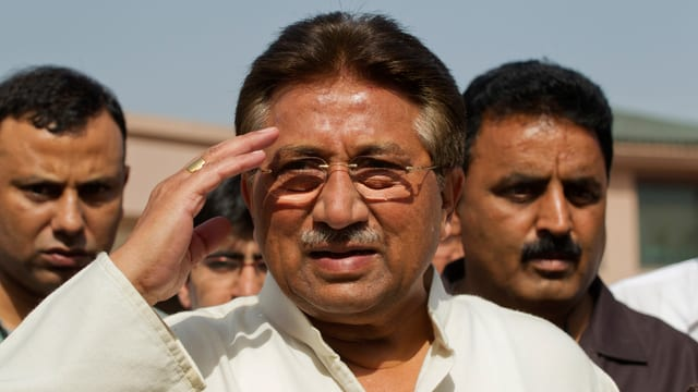 Porträtbild des ehemaligen pakistanischen Präsidenten Musharraf.