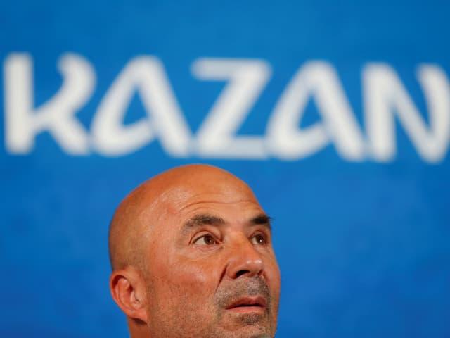 Jorge Sampaoli bei der Pressekonferenz.