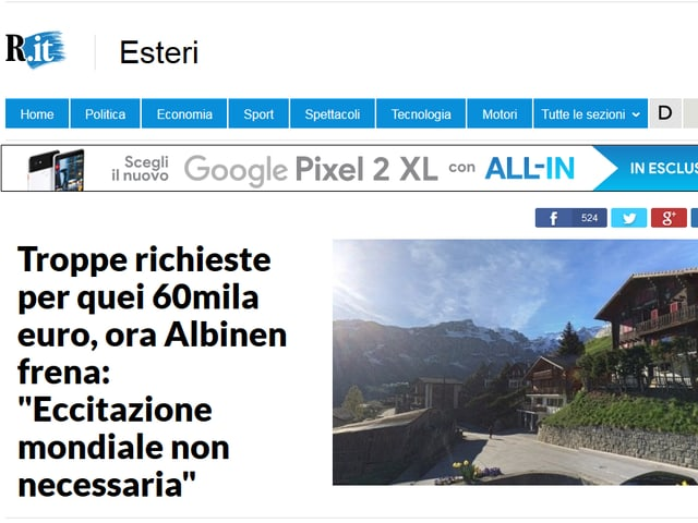Screenshot Repubblica
