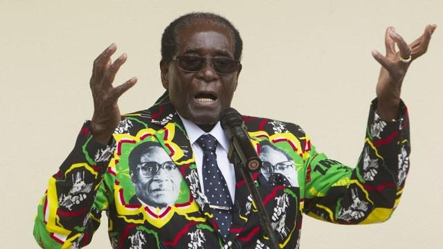 Robert Mugabe an der jährlichen Peoples Conference vom 17. Dezember 2016 in Masvingo.