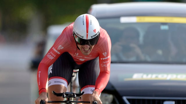 Il quatter dubel campiun mundial en la cursa cunter l'ura, Fabian Cancellara.