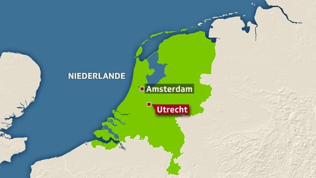 Karte Utrecht.