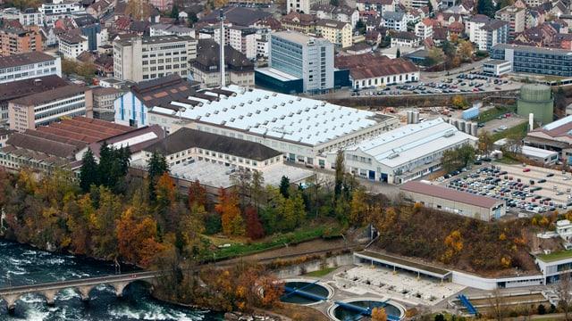 Alstom-Gebäude von oben.