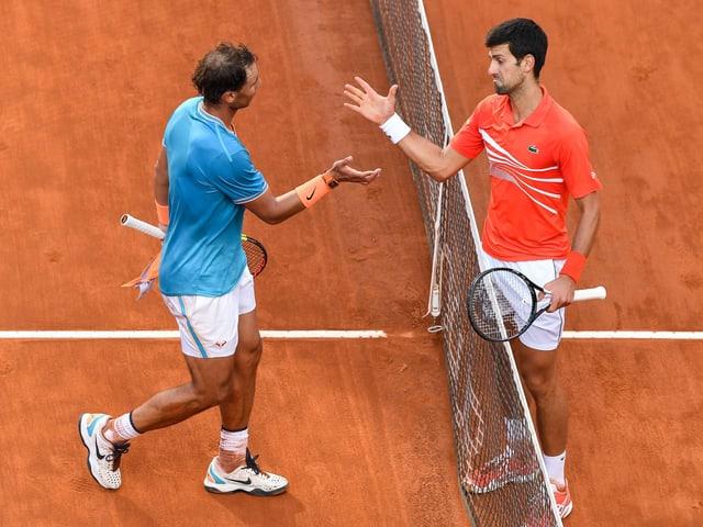 Rafael Nadal und Novak Djokovic.