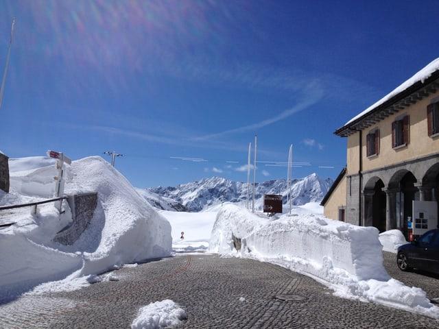 Restaurant auf dem Gotthard